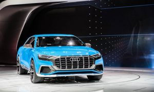 Audi's new Q8 SUV, which promises power AND fuel savings.