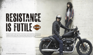 A Harley Davidson advert targetted at a younger demographic