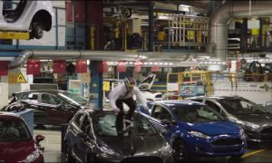 Ford's new Fiesta ST crashed windshields in it's new advert