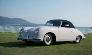 The 1952 Porsche 356 Reutter Cabriolet won Best in Class (Post War Open) at the 2017 Pebble Beach Concours d'Elegance.