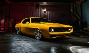 'Inferno,' a bright yellow 1969 Camaro painted with PPG products, captured the Best Street Machine title at the Shades of the Past 35th annual Hot Rod Roundup.