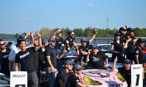 This year's winning team was Pfaff Autoworks from Concord, Ontario, with a pink Porsche, inspired by the legendary 1971 Porsche 917-20 'Pink Pig' design.