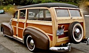 A 1947 Chevrolet Fleetmaster Woody Wagon rebuilt by Karen Trickett. Karen noted that it was an extensive year-long project with a huge learning curve to boot.
