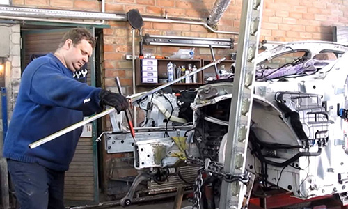 Arthur Tussik, put a video out on YouTube that takes us through his repair on an extremely beat up BMW 7 50i in just twenty minutes.