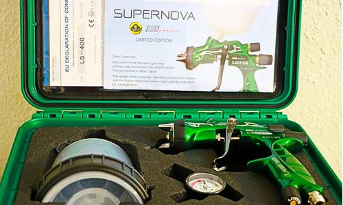 """Anest Iwata said the benefits of the product include: """"less air consumption; less overspray; higher transfer efficiency; and large, uniform and a flat, yet soft, spray pattern."""""""